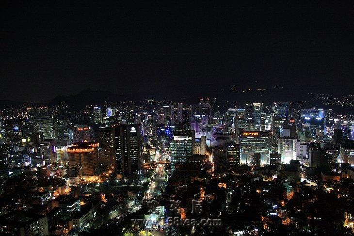 南山公园看首尔夜景