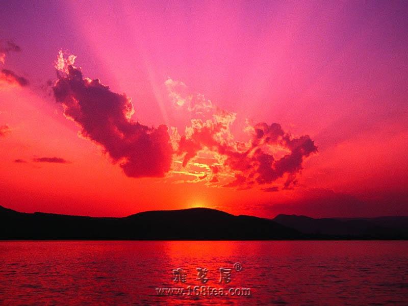 [原创]五彩云中落照红