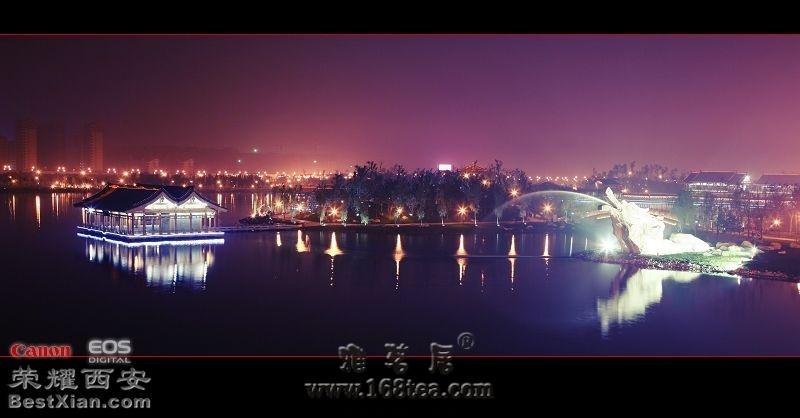 七律 南湖秋夜---记西安曲江池遗址公园