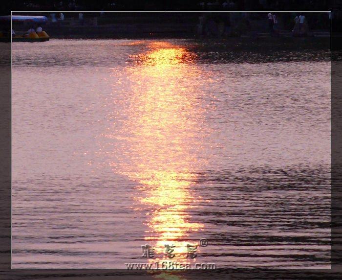 落进湖水的阳光