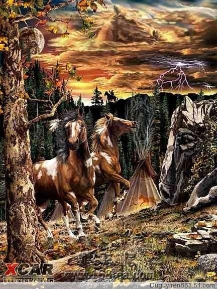 你能看出有几匹马
