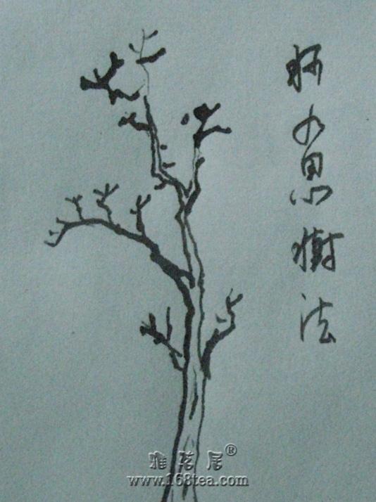 钢笔习画之《柯九思树法》
