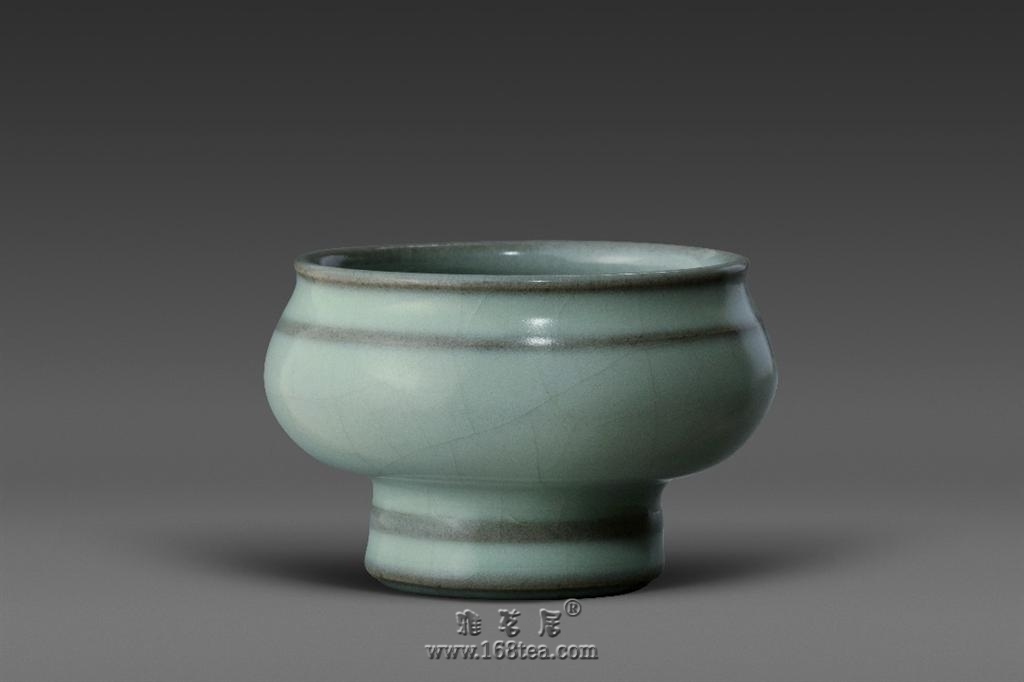 【三陶轩】徐瑞鸿汝官窑作品展――旋�y小酒杯