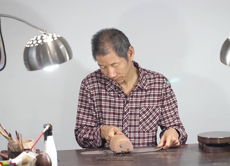 玉成窑 三足宝鼎(周盘壶)名家尹玉生 全手工制作