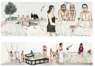 作品中为何常出现马与女人 专访画家雷子人(图)