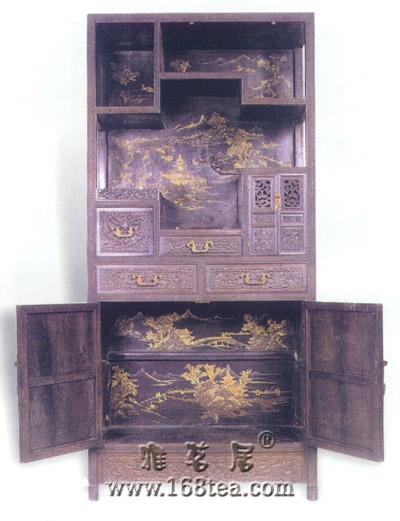 紫檀木红木贴皮书柜式多宝格