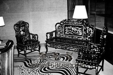 """""""元首椅""""--红木螺甸沙发"""