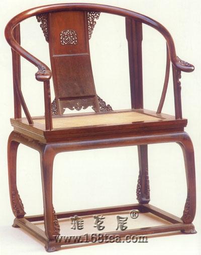 紫檀有束腰带托泥圈椅清