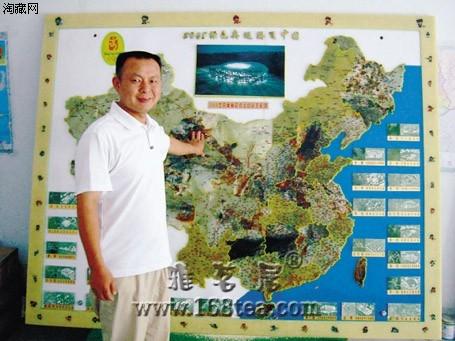 岫玉拼出中国地图(图)