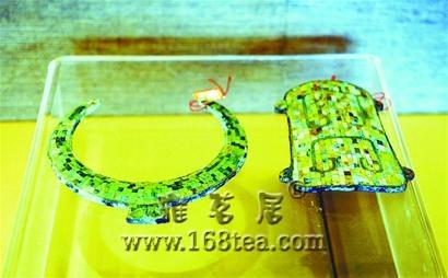 铜镶嵌绿松石牌饰首次亮相齐家古玉精品展