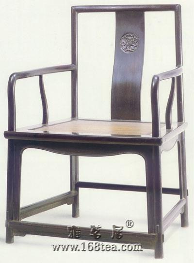 明 紫檀扇面形官帽椅