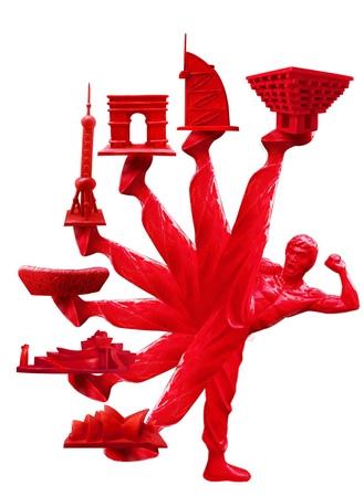 CHINA功夫陶瓷雕塑即将亮相世博