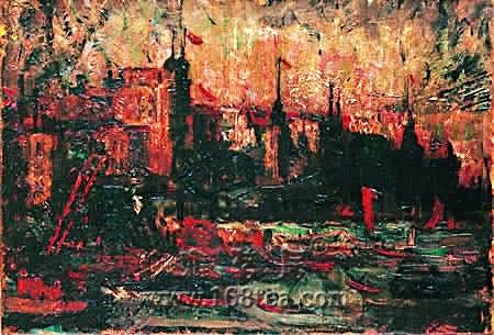 刘海粟油画作品展在上海举行