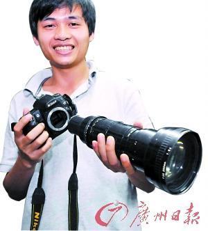 老镜头装上新机身 摄影发烧友收藏古董镜头