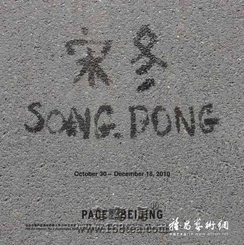 宋冬个展10月底佩斯北京画廊展出