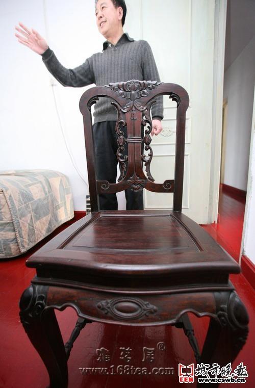 雕龙老木椅谁能验明正身(图)