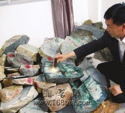芒瑞腾争建翡翠毛料专业市场