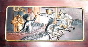 东阳木雕里90年前的运动会(图)