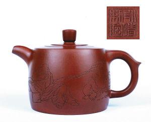 紫砂壶壶以字贵 拍卖现场备受追捧