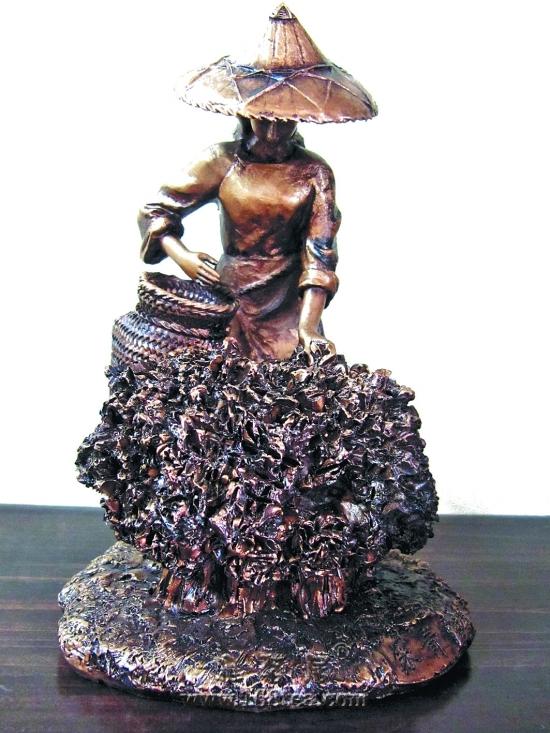工艺雕塑展现神奇的铁观音制作技艺