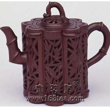 紫砂壶的装饰—镂雕