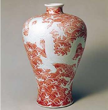 清紫地珐琅彩折枝莲纹瓶