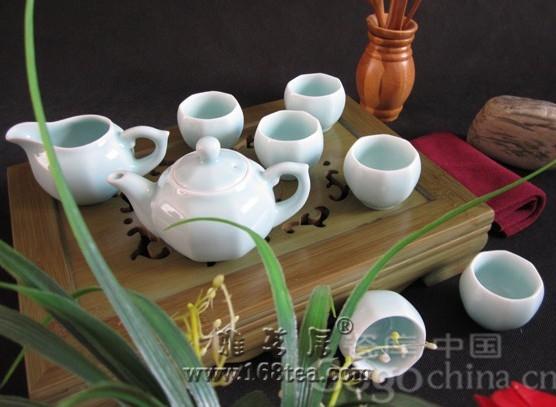 青瓷功夫茶具