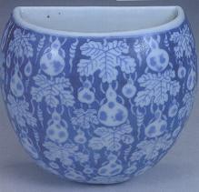 道光青花葫芦纹壁瓶