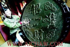 普洱茶做成的装饰品