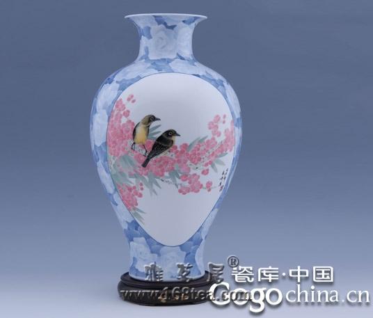 瓷器上花鸟画的审美表现