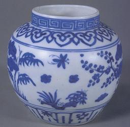 青花松竹梅纹罐