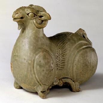名瓷欣赏—西晋青釉羊