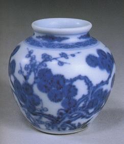 青花松竹梅纹小罐