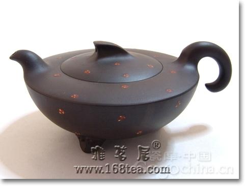 紫砂壶装饰:砂胎包锡