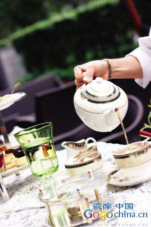 英国下午茶和中国陶瓷茶具