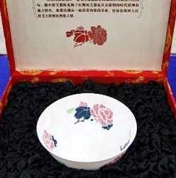 醴陵窑釉下五彩花卉碗