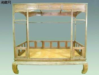 17世纪罕见黄花梨床 主人想转让(图)