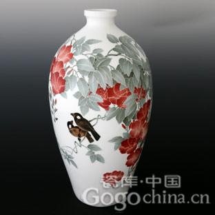 陶瓷釉上花鸟装饰工艺和艺术特点