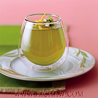橘子绿茶果冻