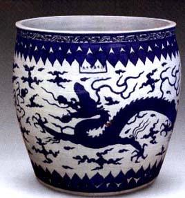 瓷器收藏—明代景德镇御窑厂的花缸制作