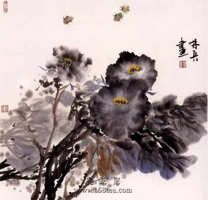 林兵先生创作青花瓷与油画融合