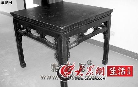 民国的八仙桌能翻新吗?