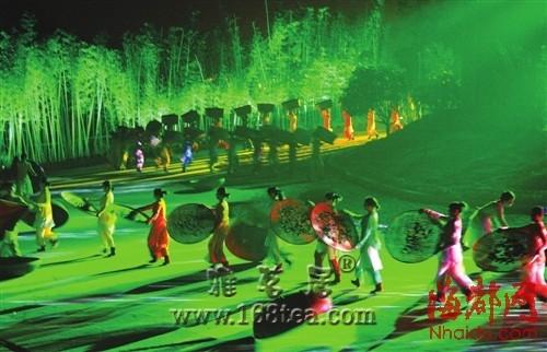 印象大红袍 山水茶实景出演的武夷风光