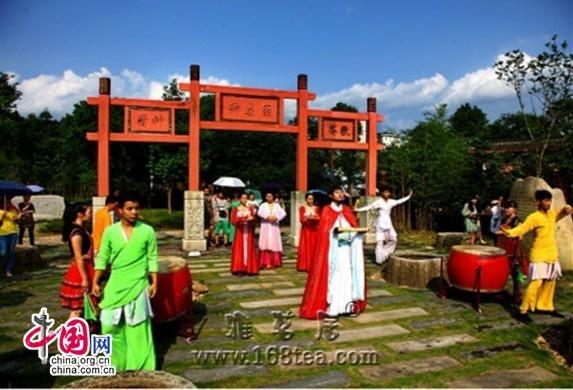 《印象大红袍》恢复茶博园体验项目 体验当地风俗