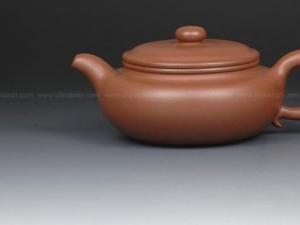 扁腹紫砂壶图片