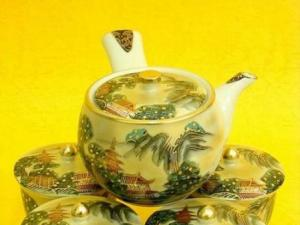 世界极品山水本金盖碗茶具