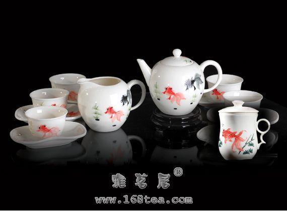 品明代白瓷茶具