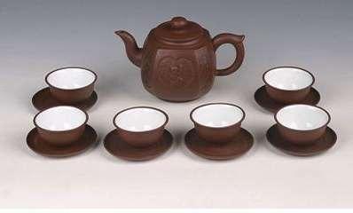 紫砂茶具的图片-套组系列