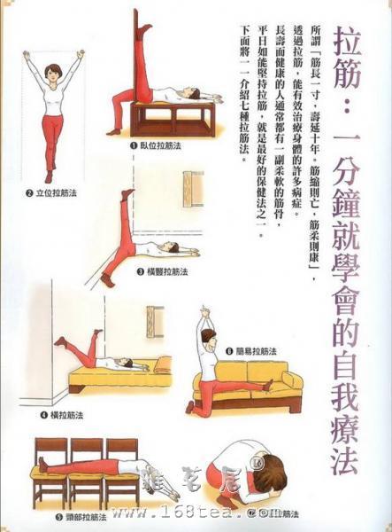 筋缩与卧位拉筋法