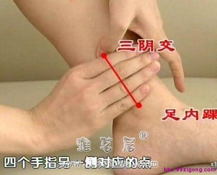 三阴交穴位按摩法 |三阴交取穴法